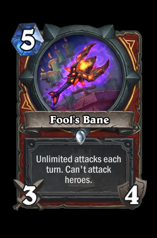 Fool's Bane Hearthstone kártya