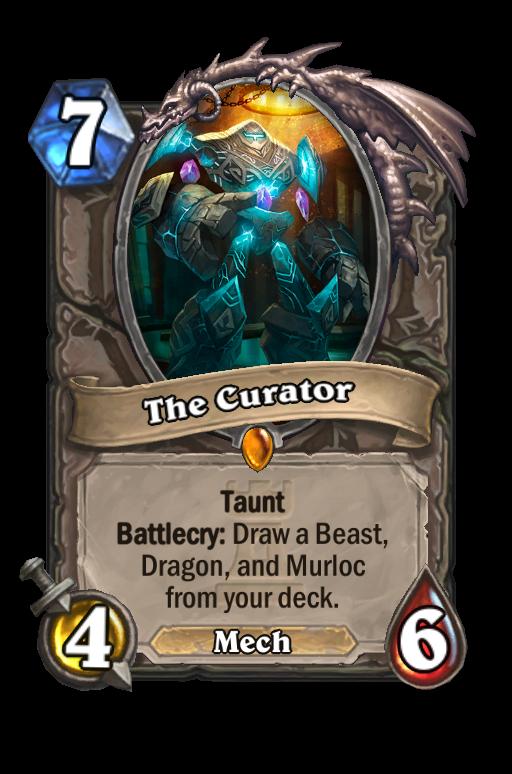 The Curator Hearthstone kártya