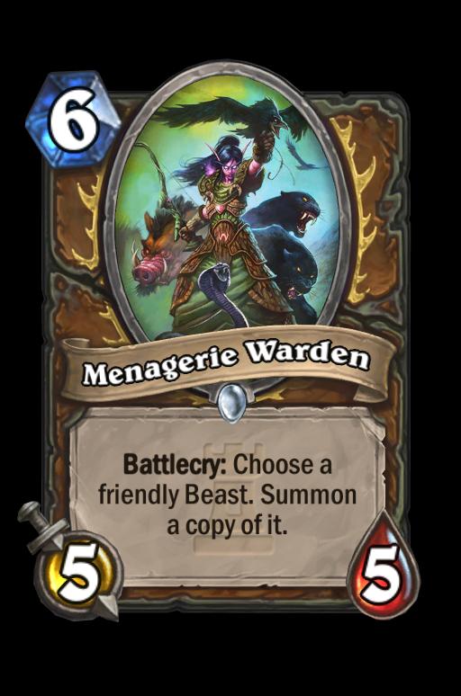 Menagerie Warden Hearthstone kártya