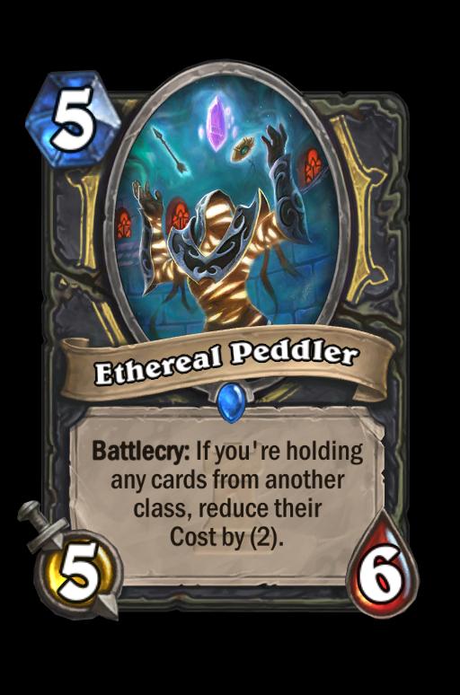 Ethereal Peddler Hearthstone kártya