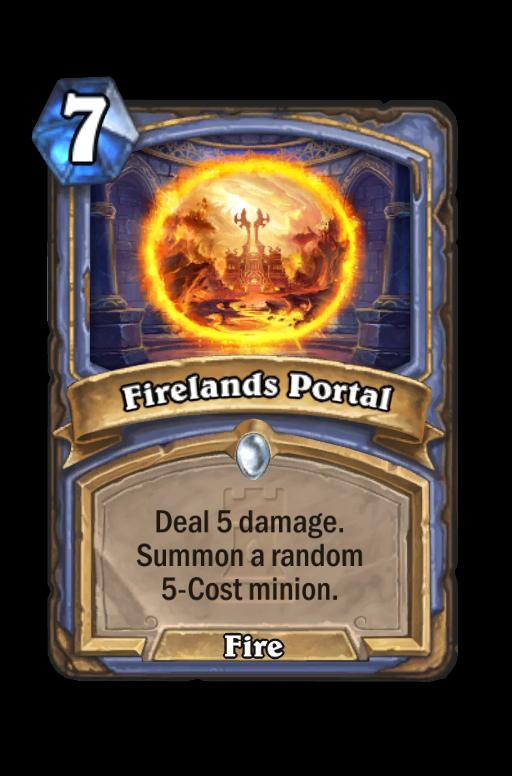 Firelands Portal Hearthstone kártya