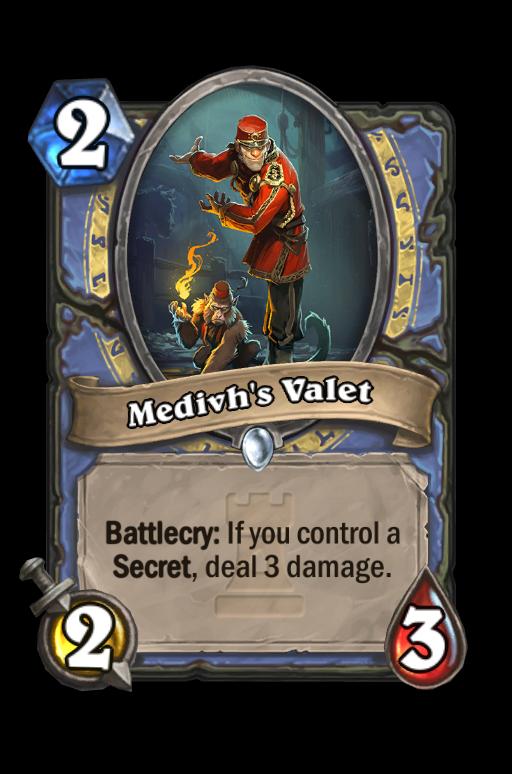 Medivh's Valet Hearthstone kártya