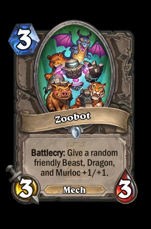 Zoobot Hearthstone kártya