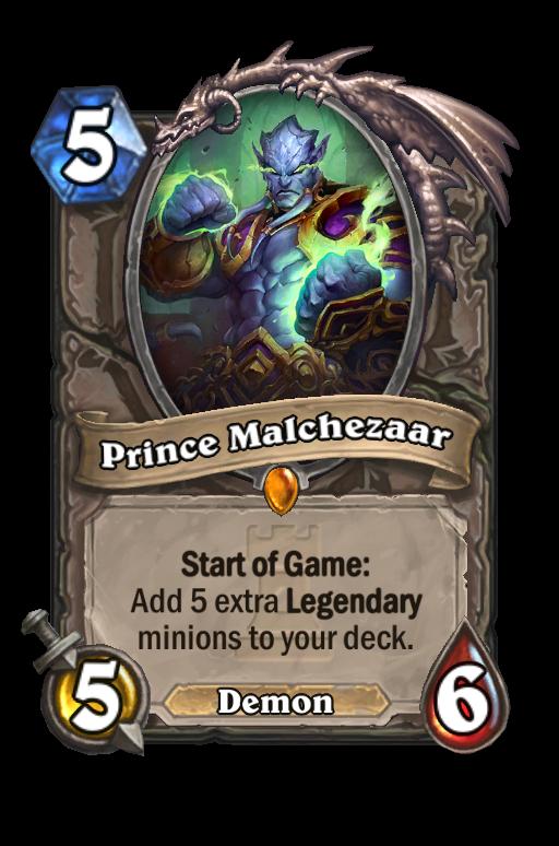 Prince Malchezaar Hearthstone kártya
