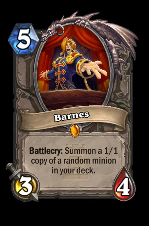 Barnes Hearthstone kártya