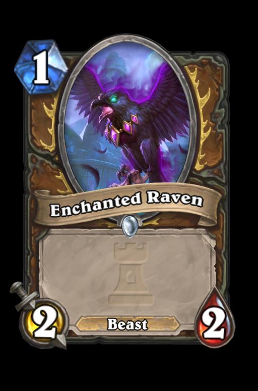 Enchanted Raven Hearthstone kártya