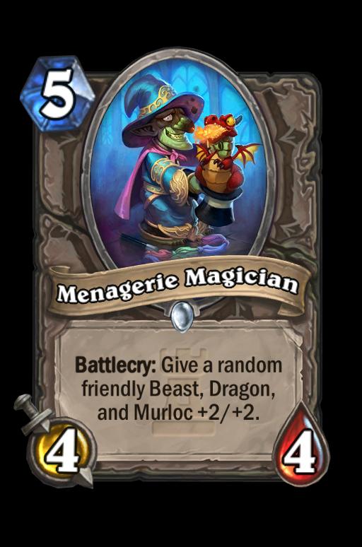 Menagerie Magician Hearthstone kártya
