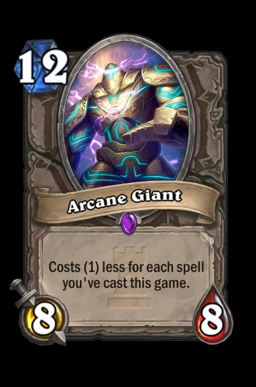 Arcane Giant Hearthstone kártya