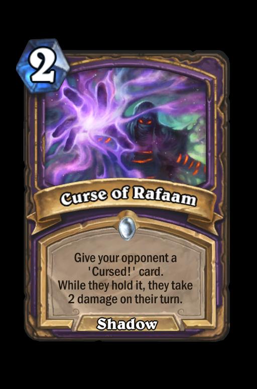 Curse of Rafaam Hearthstone kártya