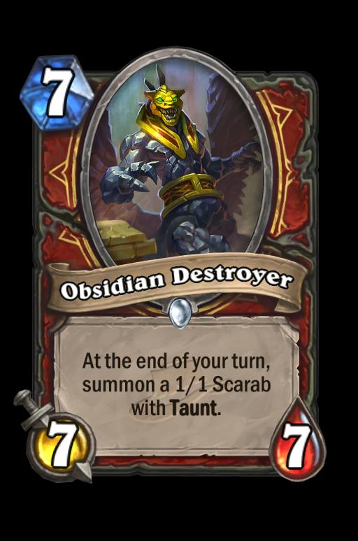 Obsidian Destroyer Hearthstone kártya