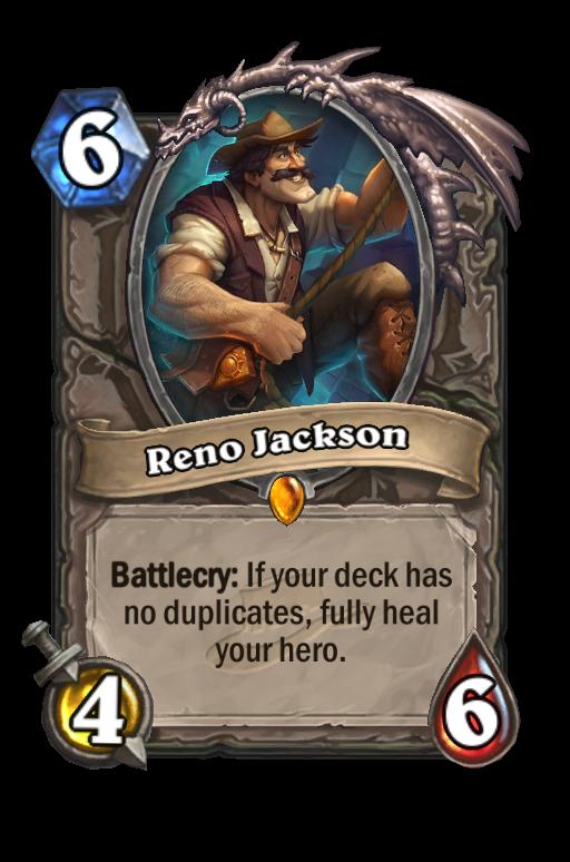 Reno Jackson Hearthstone kártya