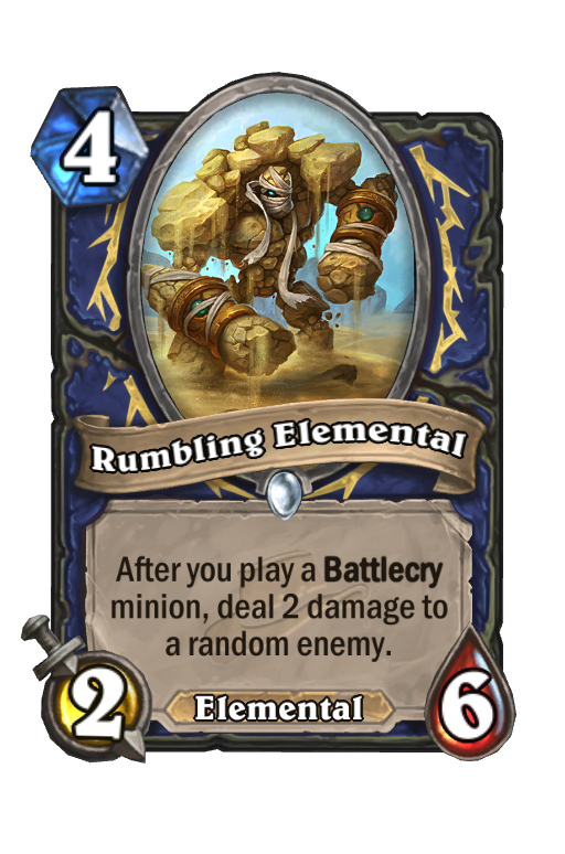 Rumbling Elemental Hearthstone kártya
