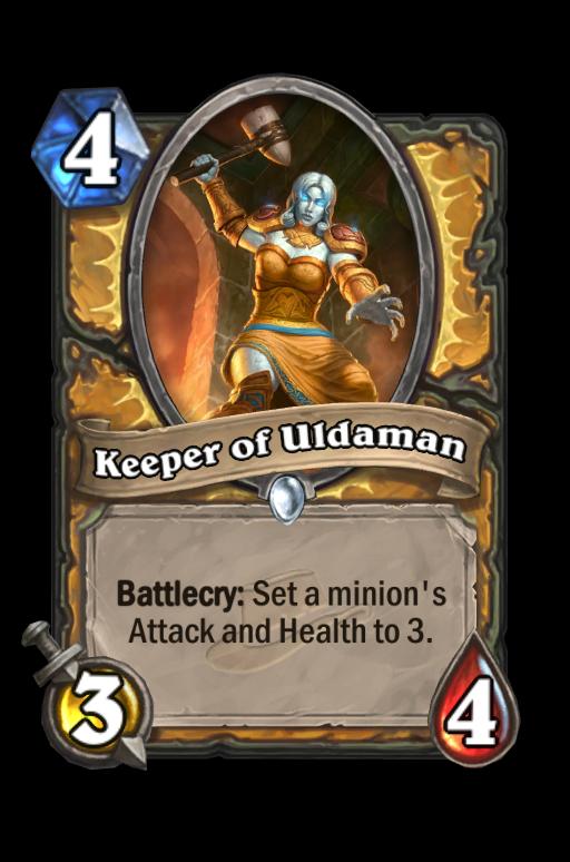 Keeper of Uldaman Hearthstone kártya