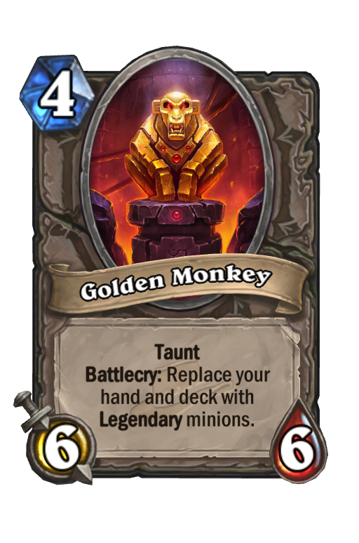 Golden Monkey Hearthstone kártya
