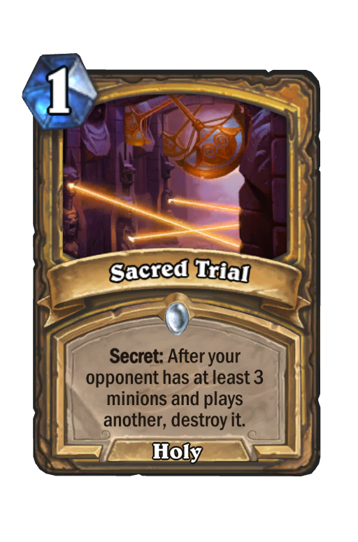 Sacred Trial Hearthstone kártya