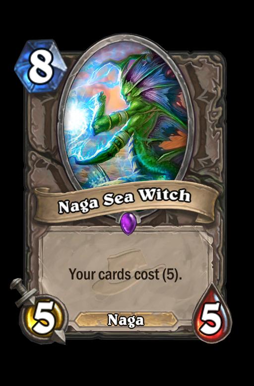 Naga Sea Witch Hearthstone kártya