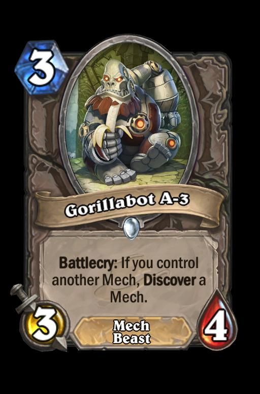 Gorillabot A-3 Hearthstone kártya