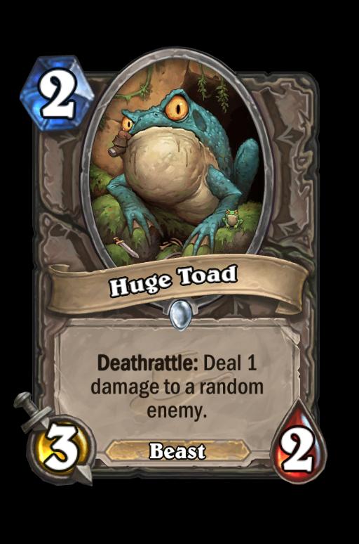 Huge Toad Hearthstone kártya