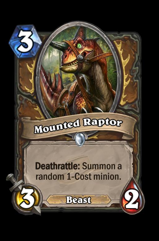 Mounted Raptor Hearthstone kártya
