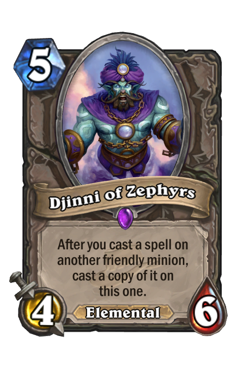 Djinni of Zephyrs Hearthstone kártya