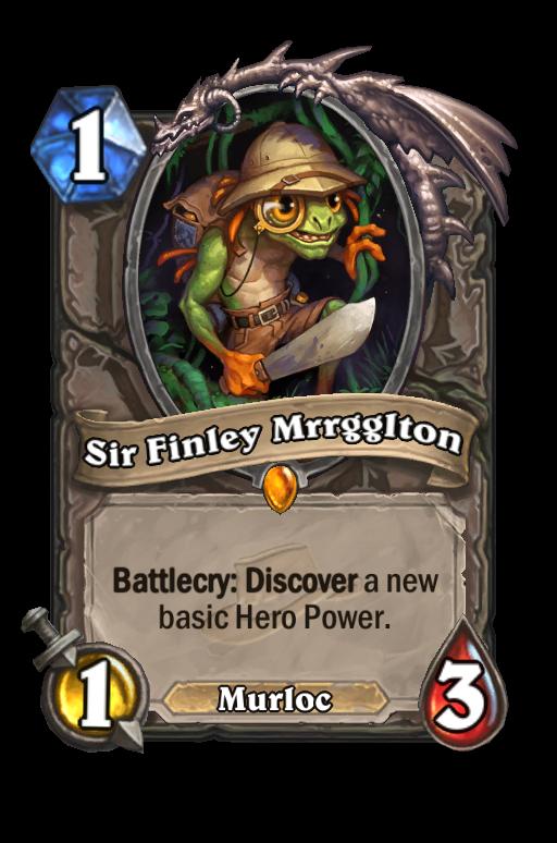 Sir Finley Mrrgglton Hearthstone kártya