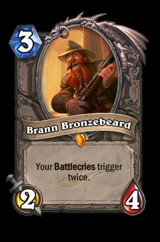 Brann Bronzebeard Hearthstone kártya