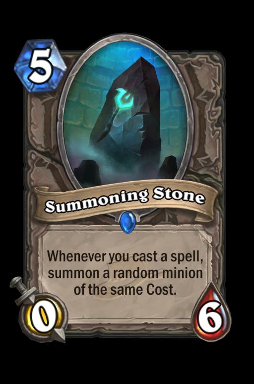 Summoning Stone Hearthstone kártya