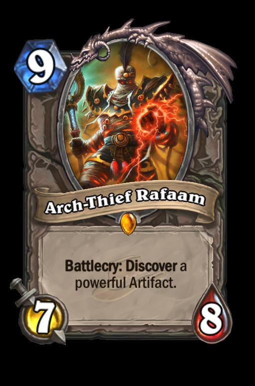 Arch-Thief Rafaam Hearthstone kártya