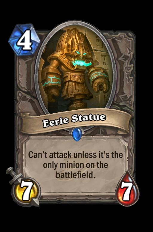 Eerie Statue Hearthstone kártya