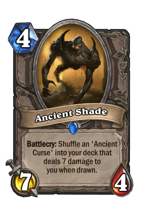Ancient Shade Hearthstone kártya
