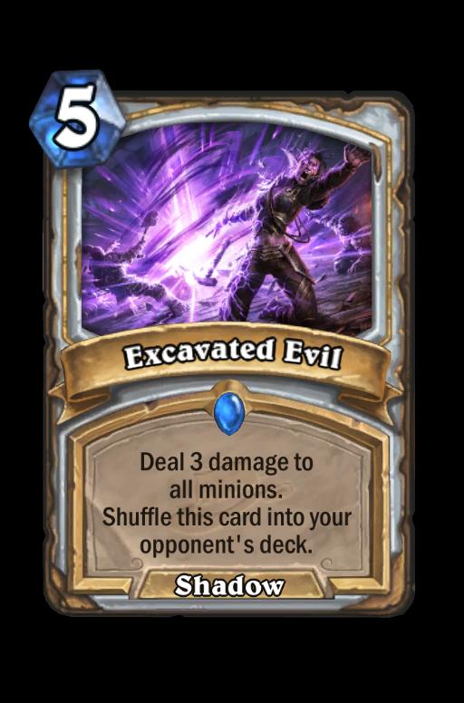 Excavated Evil Hearthstone kártya