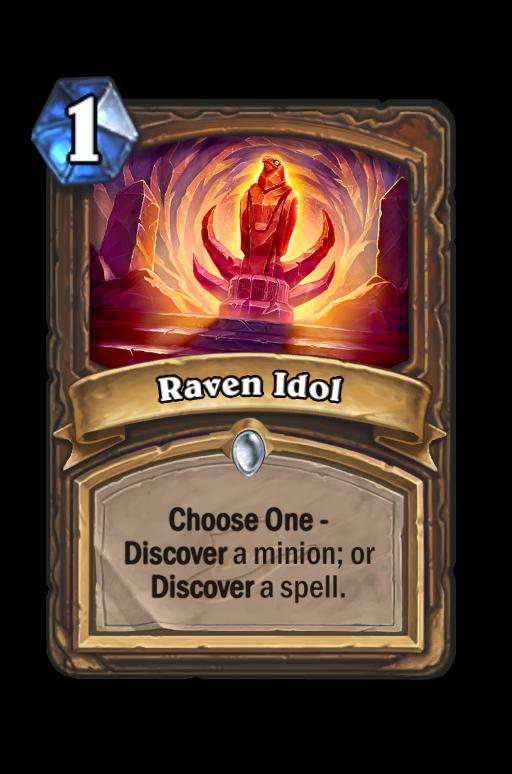 Raven Idol Hearthstone kártya