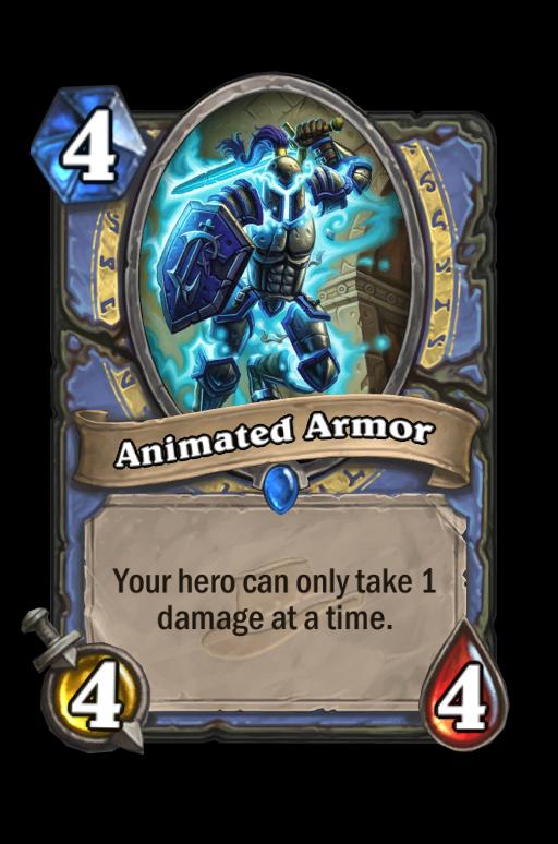 Animated Armor Hearthstone kártya