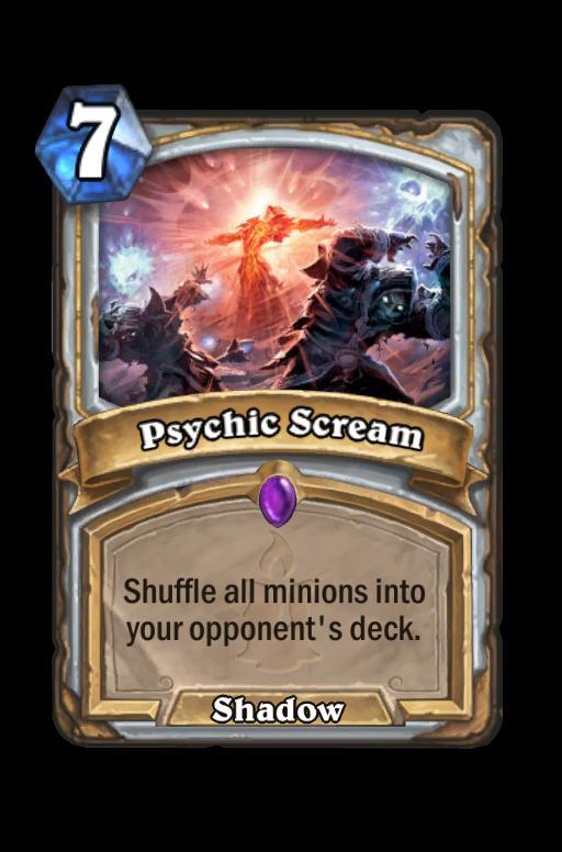 Psychic Scream Hearthstone kártya