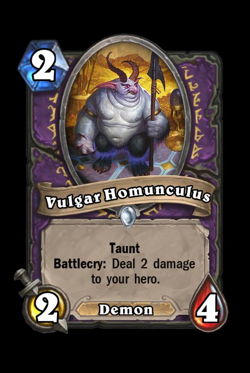 Vulgar Homunculus Hearthstone kártya