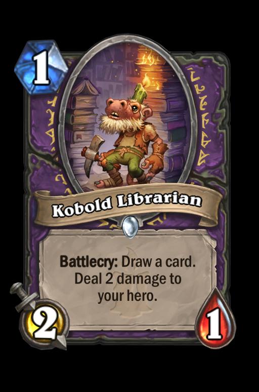 Kobold Librarian Hearthstone kártya