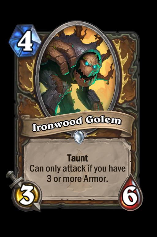 Ironwood Golem Hearthstone kártya
