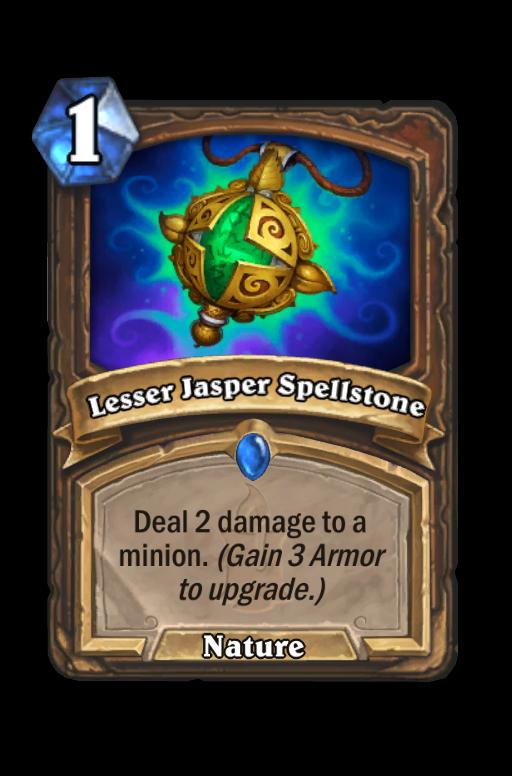 Lesser Jasper Spellstone Hearthstone kártya