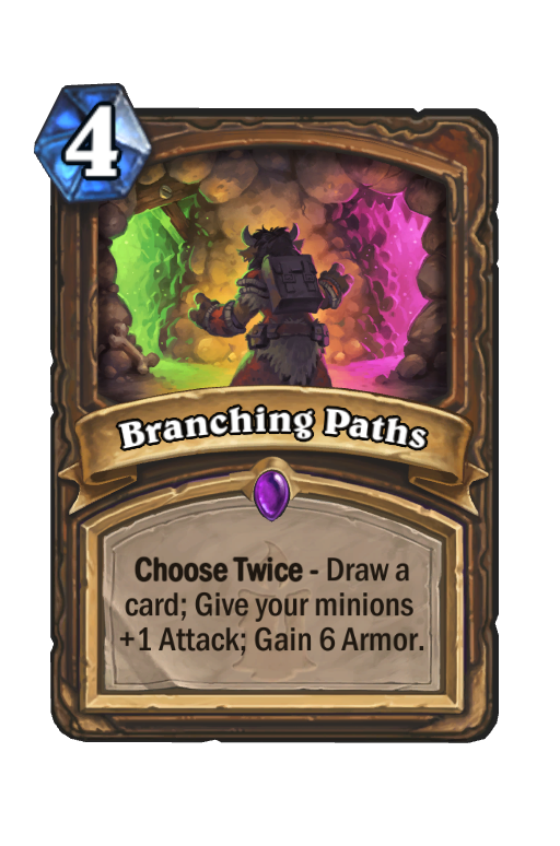Branching Paths Hearthstone kártya