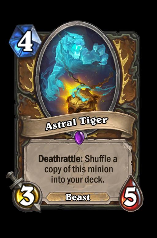 Astral Tiger Hearthstone kártya