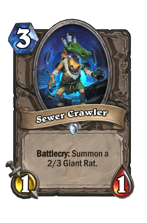 Sewer Crawler Hearthstone kártya
