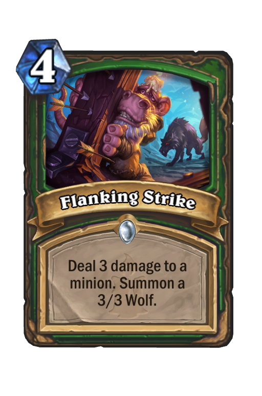Flanking Strike Hearthstone kártya