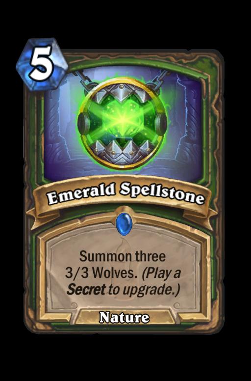 Emerald Spellstone Hearthstone kártya