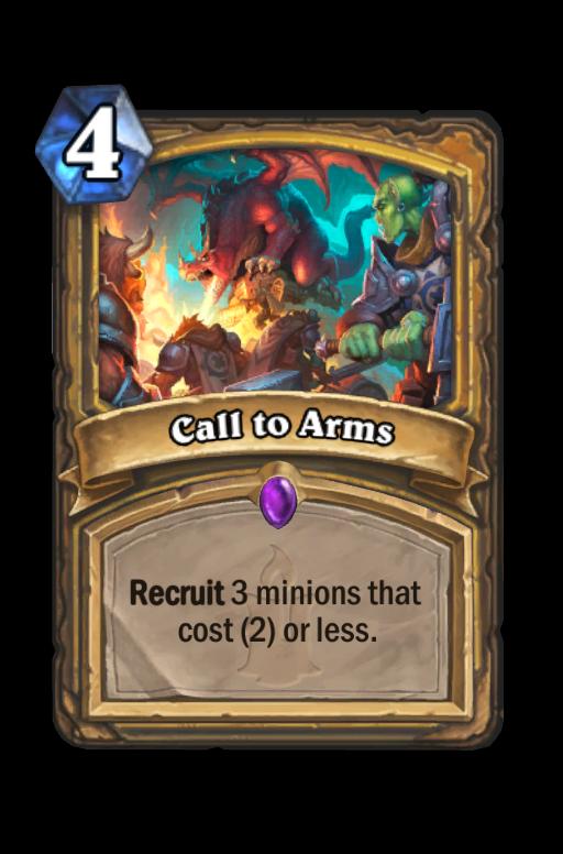 Call to Arms Hearthstone kártya