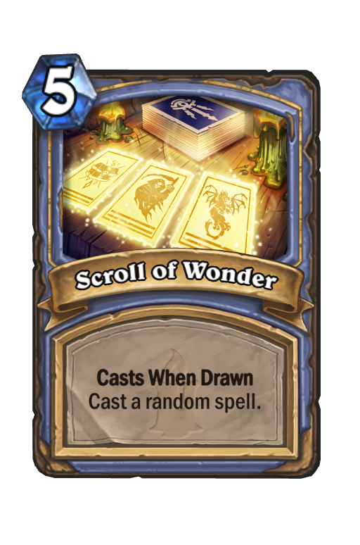 Scroll of Wonder Hearthstone kártya