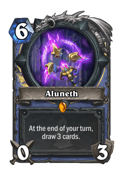 Aluneth Hearthstone kártya