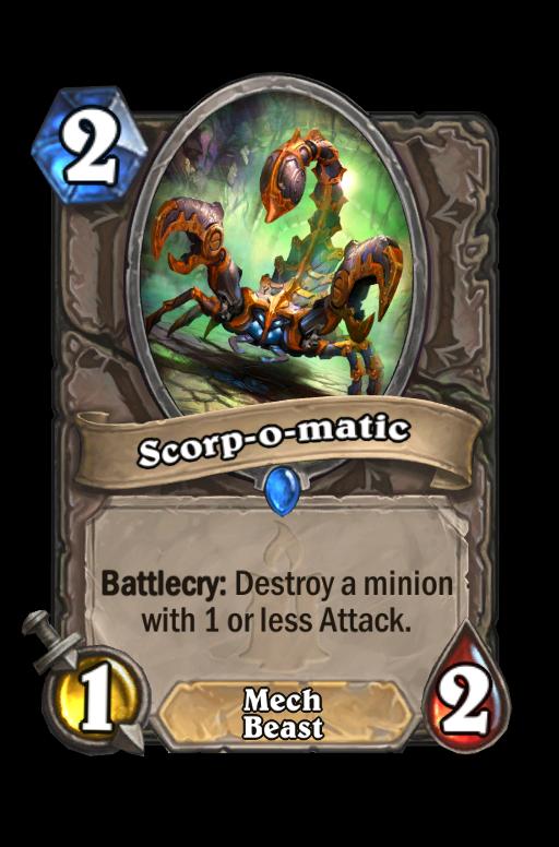Scorp-o-matic Hearthstone kártya