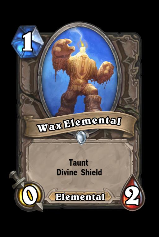 Wax Elemental Hearthstone kártya