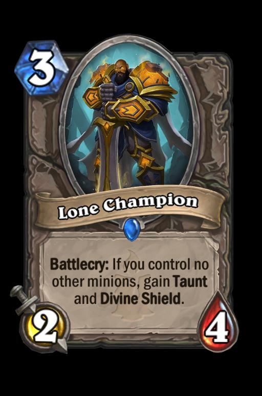 Lone Champion Hearthstone kártya