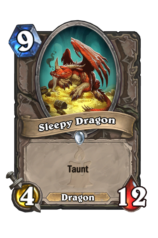 Sleepy Dragon Hearthstone kártya
